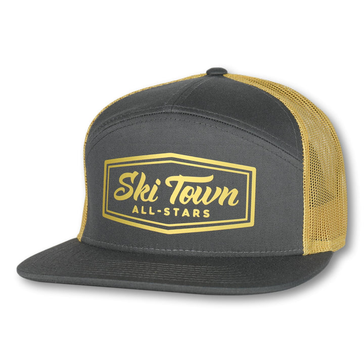7 Panel Snapback - OLD GOLD