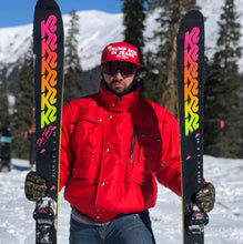 TRUMP SKIS IN JEANS - RED