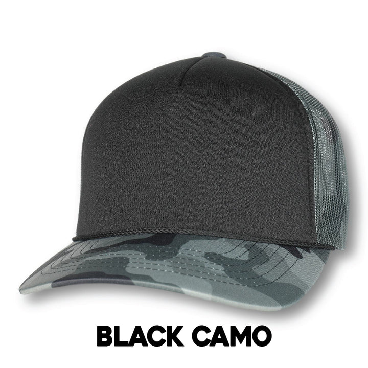Custom Camo Ski Town All-Stars Trucker