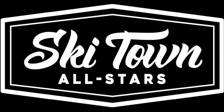 "6"" Ski Town All-Stars Die Cut Sticker"