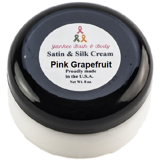 Pink Grapefruit Scented Satin & Silk Body Cream