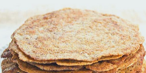Secret Cinnamon Flaxseed Flatbread