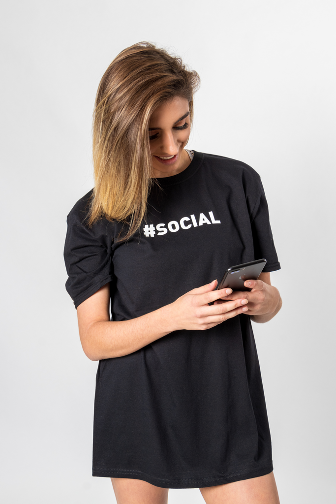 "CR8VMNDS  ""#SOCIAL""  T-Shirt"