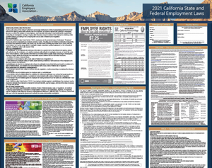 California & Federal 2021 Labor Law Posters (available in English or Spanish)