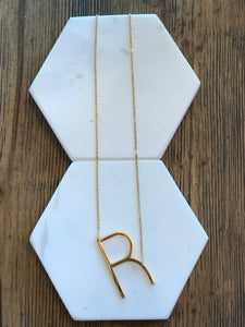 Initial Necklace Letter R
