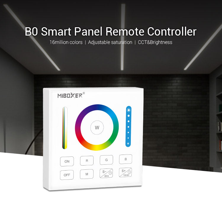 FluxTech - Battery Operated RGB+CCT Smart Panel Remote Controller