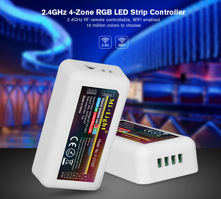 2.4GHz RF 4-Zone RGB LED Light Strip Product Control Unit