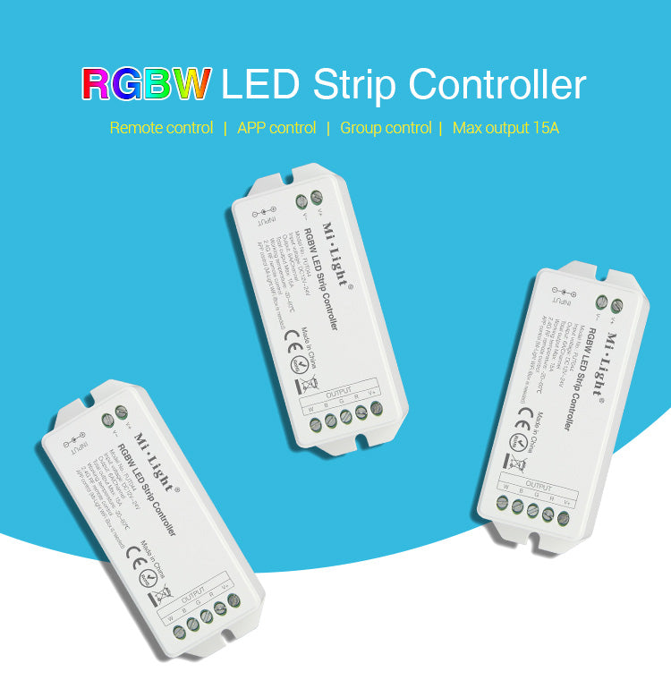 FluxTech® RGBW / RGBWW LED Strip Controller for RGBW, RGBWW  Strip Light