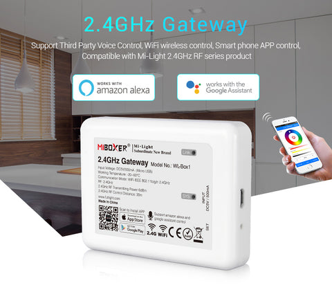 FluxTech® 2.4GHz Gateway. Newest Version Wireless Control. Third Party Voice Control Compatible.