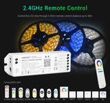 FluxTech ® MiBoxer 5 in 1 WiFi LED Strip Controller, Amazon Alexa Voice Control Remote, Google Assistant and APP Control