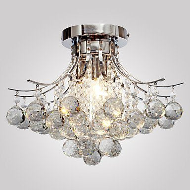 FluxTech - Modern Cameo Crystal Chandelier Ceiling Light