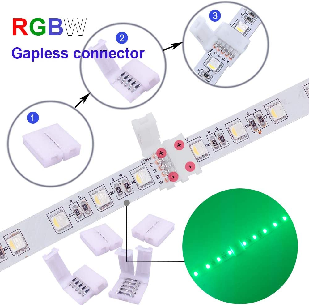FluxTech - IP20 - LED Strip Solderless Strip to Strip Connectors for Non-Waterproof 10mm SMD5050 LED Strip ( 2Pin, 3Pin, 4Pin available )