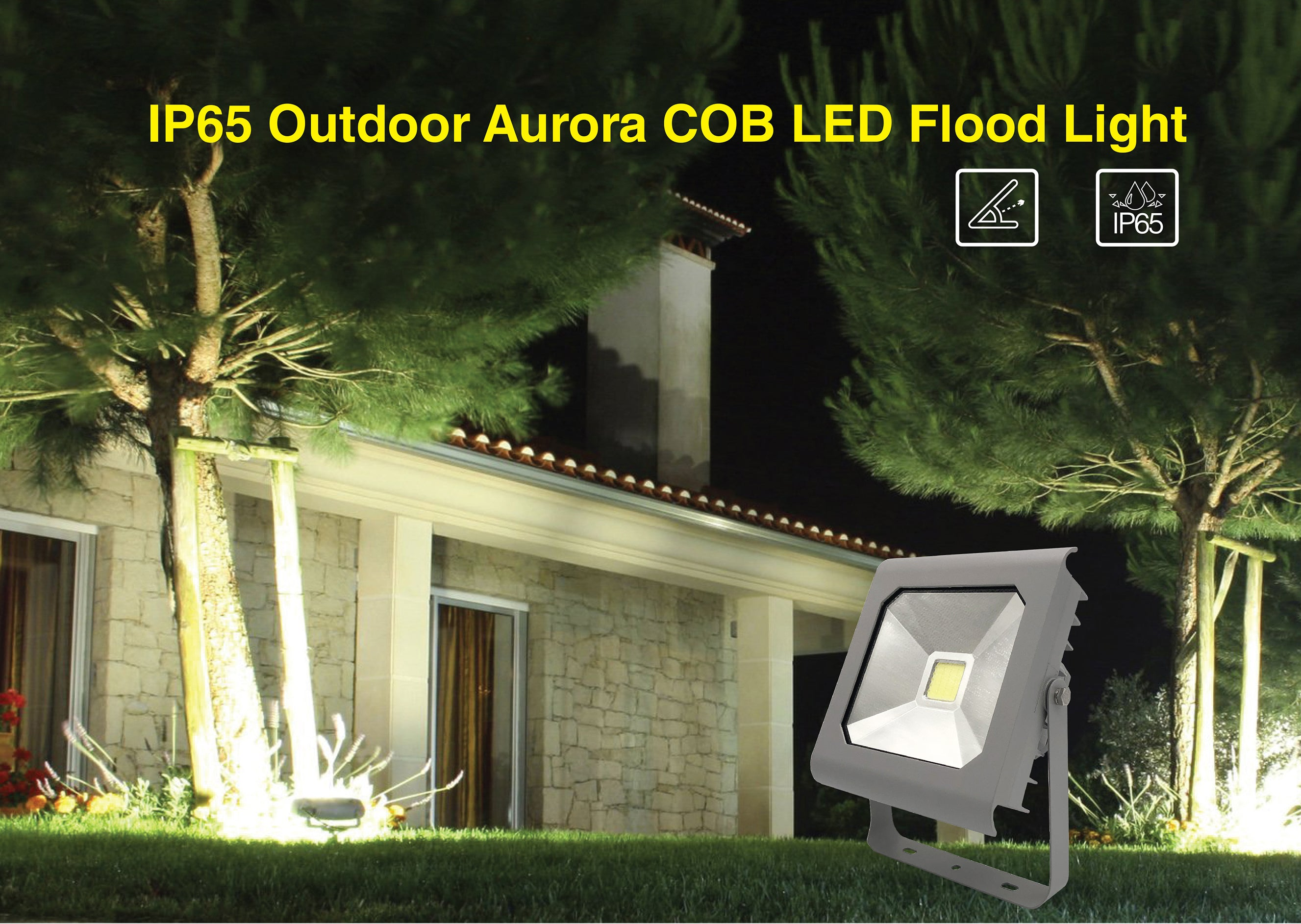 IP65 Outdoor Aurora COB Serial LED Flood Lights