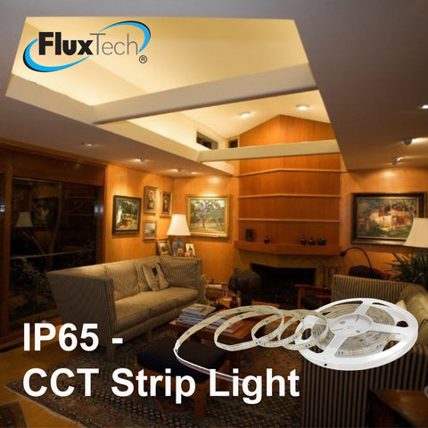 Waterproof  IP65 High Power 2in1 CCT Colour Temperature Changing Strip Light - Low Voltage