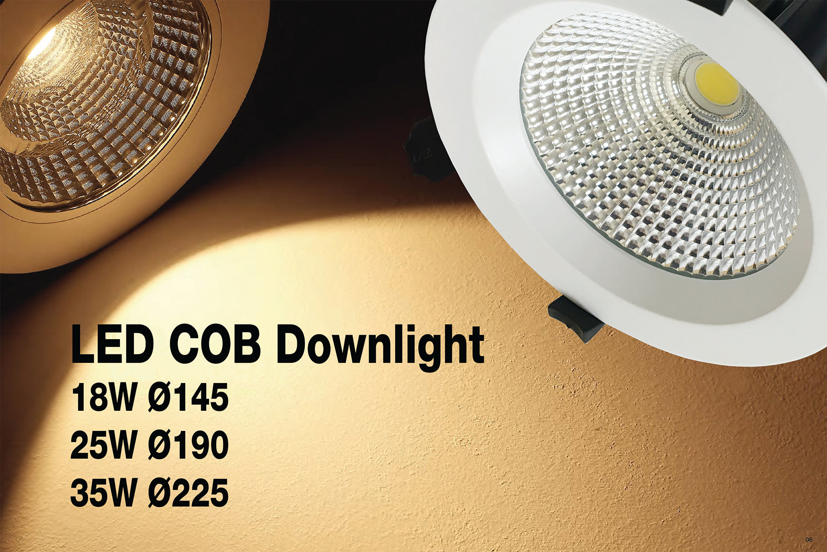 JustLED – High Quality Commercial COB 18W 25W 35W LED Downlight