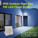 IP65 Outdoor Pearl Eye Stylish LED PIR Flood Lights