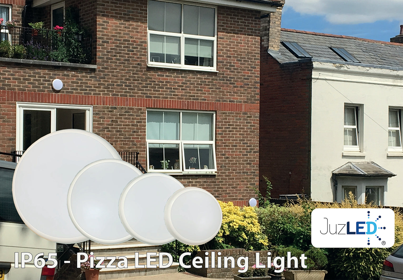 JustLED - IP54 Pizza LED Ceiling & Wall lamp [Energy Class A+]