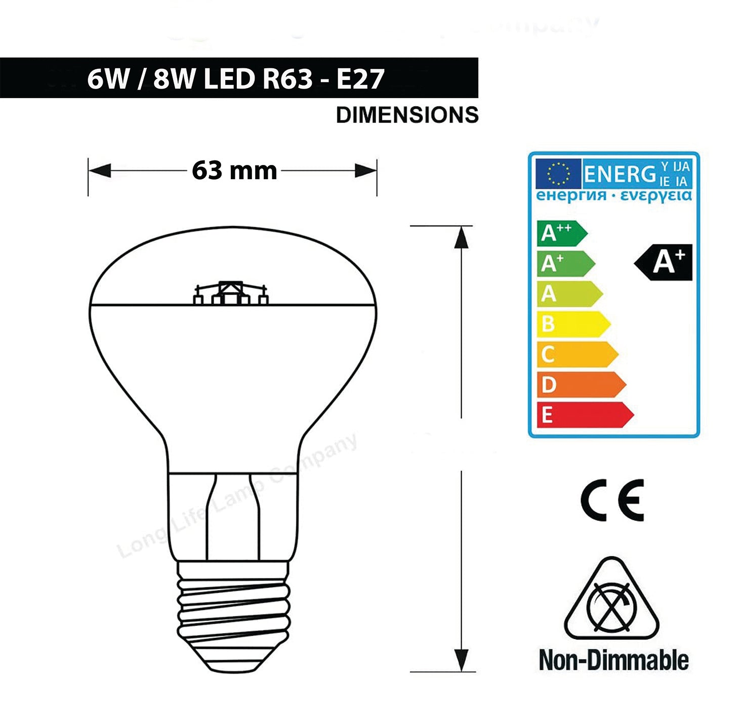 JustLED – R63 Reflector LED Spot Light Bulb [Energy Class A++]