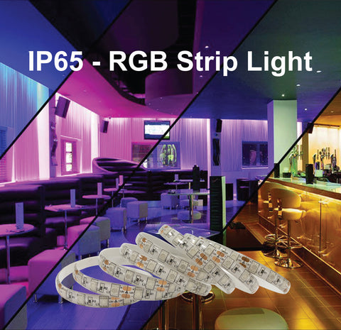 Waterproof IP65 RGB Colour Changing Strip Light - Low Voltage