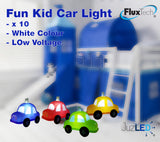 FluxTech - Fantastic Children Fun Car 10 x White Colour LED String Lights JustLED – Low Voltage Operated