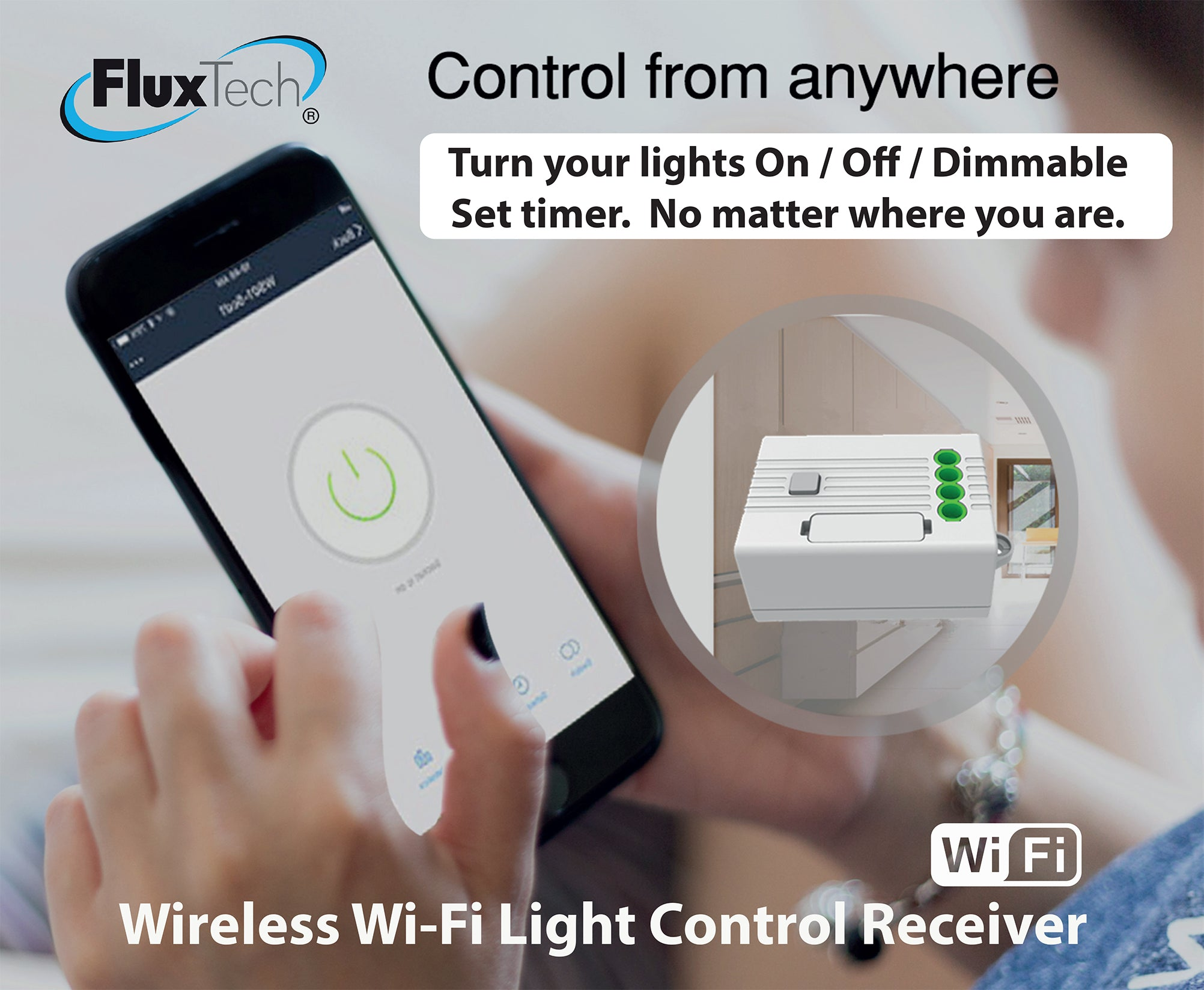FluxTech - Wireless Wi-Fi Light Control Receiver