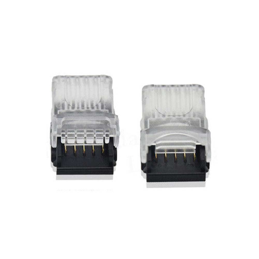 FluxTech 5-Pin RGB+CCT LED Strip to Wire Connector for 12mm Watreproof 5050 LED Strip Light