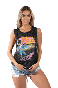 Ladies Skater Sunset Tank Top