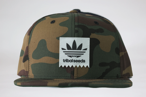 Camo Tribal Tag Snapback Hat