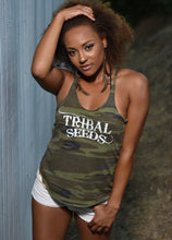 Ladies White Tribal Seeds Glow N The Dark Camouflage Tank Top