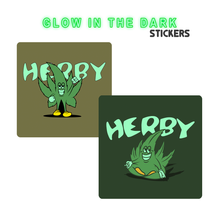 Glow N The Dark HERBY Sticker Pack