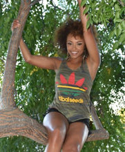 Ladies Camouflage Rasta Tribal Sport Tank Top