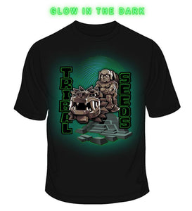 Men's Glow N The Dark Olmec Serpent T-Shirt