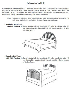 Birdcage Bed with Low Footboard
