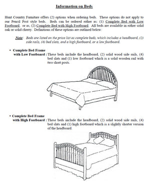 Queen Anne Bed With High Footboard