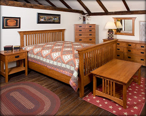 Mission Bed with High Footboard