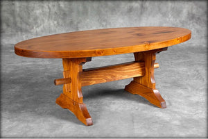 Oval Trestle Coffee Table
