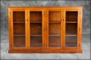 Double Bookcase with Glass Doors