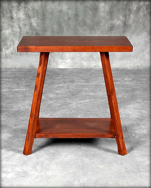 Rectangular End Table With Shelf