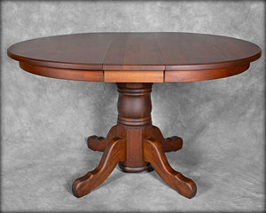 "42""- 62"" Round Pedestal Extension Table"