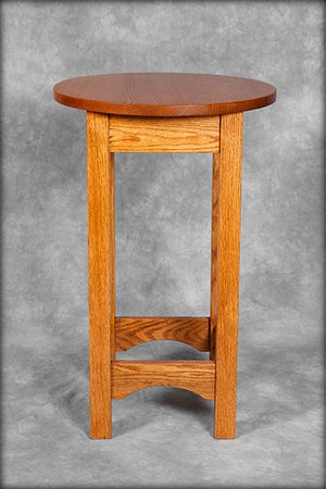 "Mission 16"" Round Side Table"