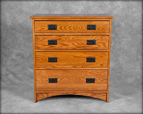 Mission 4 Drawer Bureau