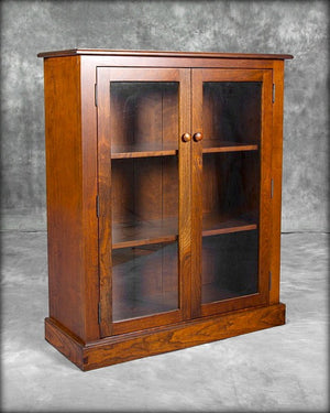 Single Bookcase with Glass Doors