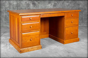 Raised Panel Executive Desk