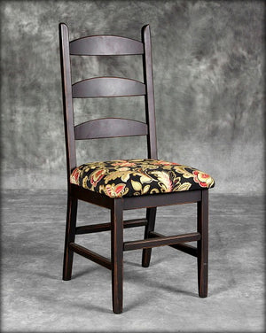 Upholstered Round slat Ladderback Chair