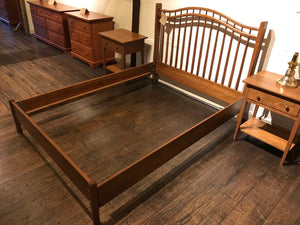 Queen Anne Bed With Low Footboard