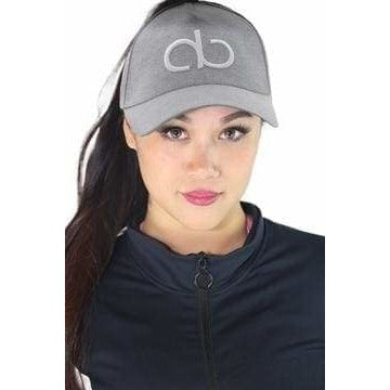 37728a9ac78 AB Butter GOALS High Ponytail Hole Strapback Dad Hat - Grey Jersey ...