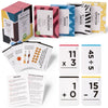 Pocket-Size Math Bundle: Addition, Subtraction, Multiplication, Division Flashcards | Complete Box Set | All Facts | Color Coded