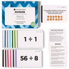 Pocket-Size Division Flashcards | Full Set (All Facts 1-12) | Color Coded