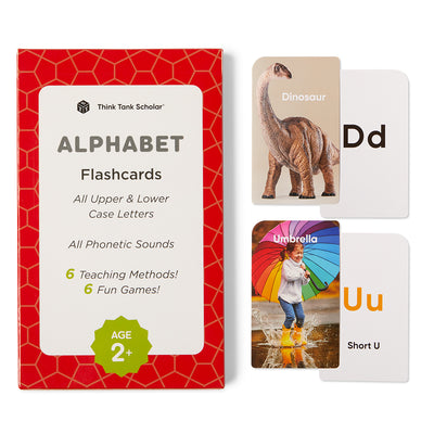 Alphabet Flash Cards (ABCs) Preschool - All Upper & Lower Case Letters & All Phonetic Sounds