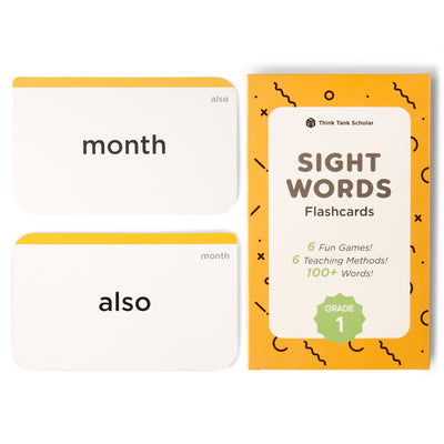 First Grade Sight Word Flash Cards